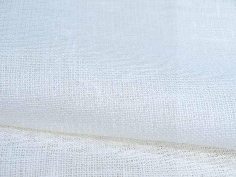 150 см. Белая декоративная льняная сеточка