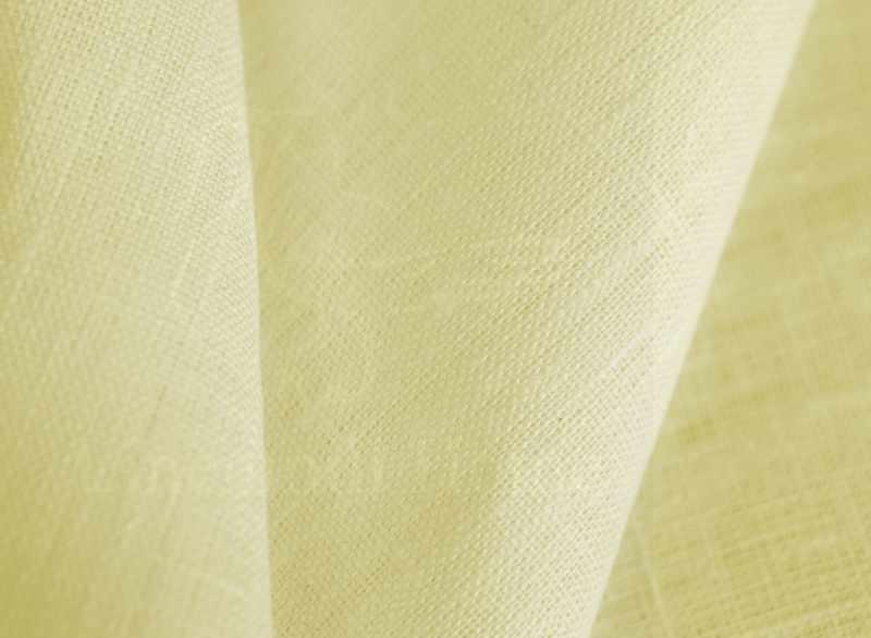 180 см. Плотная льняная ткань Слоновая Кость