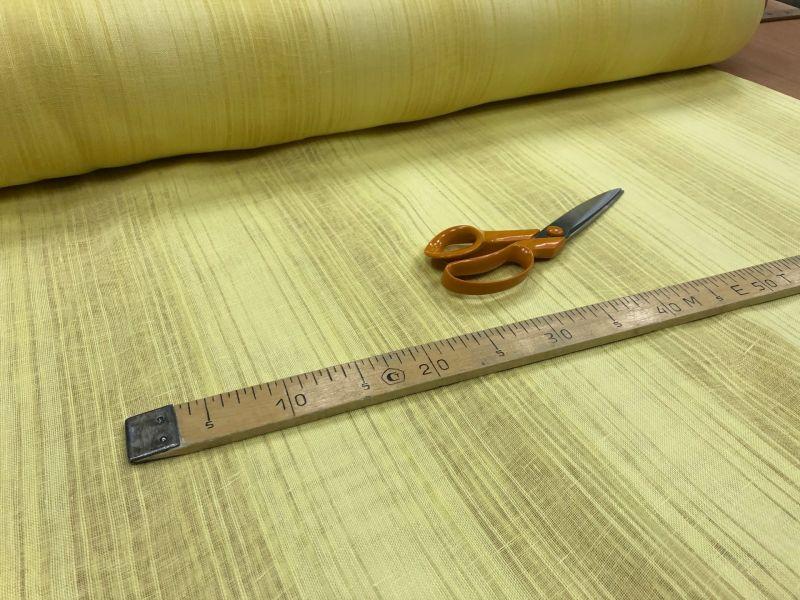 205 см. Льняная желтая тюлевая ткань