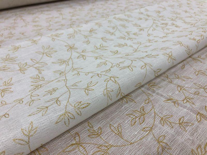 150 см. Ткань декоративная сеточка с золотым рисунком
