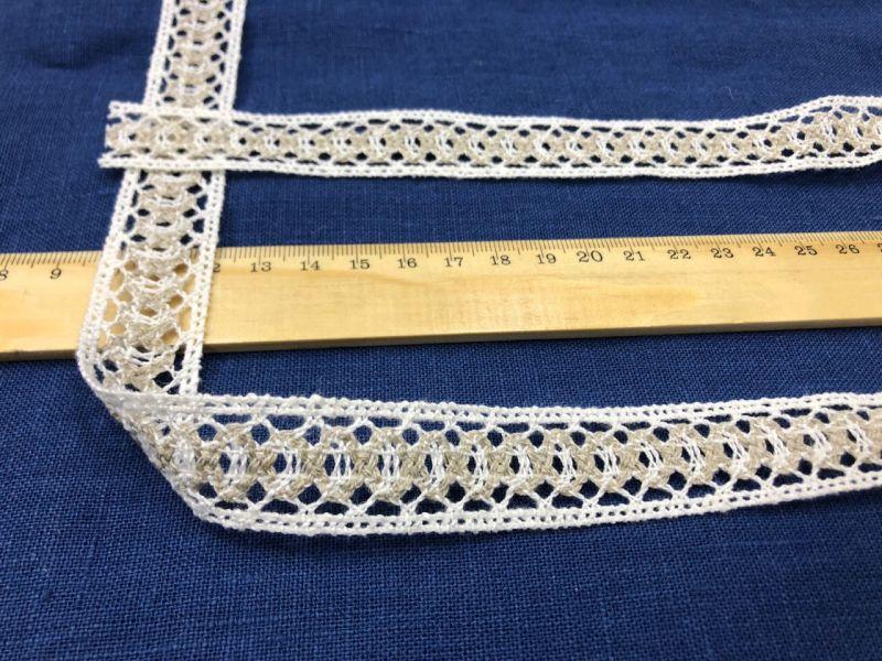 20 мм Узкое льняное кружево лента с кружками