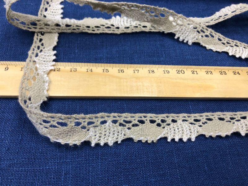 20 мм Узкое льняное кружево с ресничками