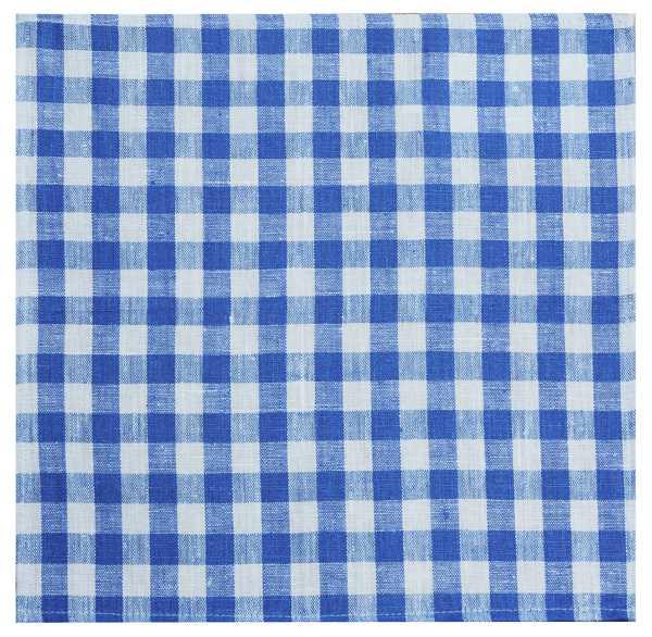 45х45 Салфетка льняная в бело-синюю клеточку