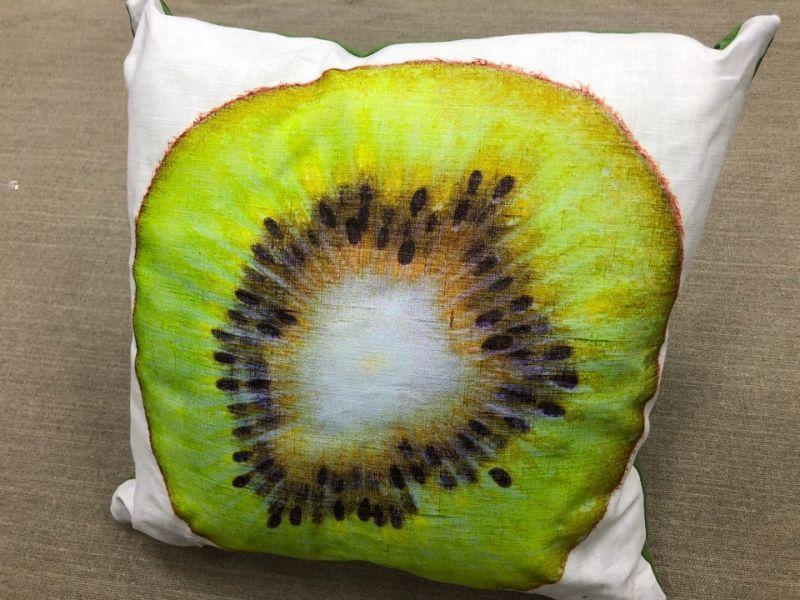 40х40 Декоративная льняная подушка на диван Киви