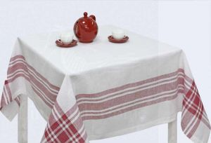 "Скатерть на квадратный стол ""Традиция White"" 150х150"