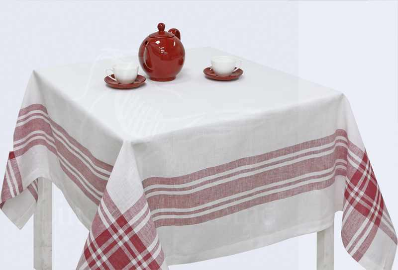 150х150 Скатерть на квадратный стол Традиция White