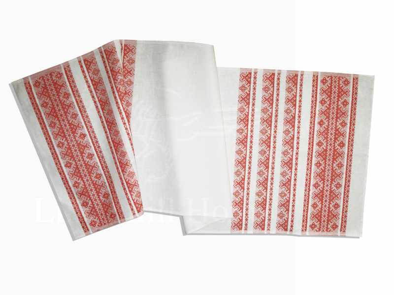 50х150 Льняной рушник Сябрына
