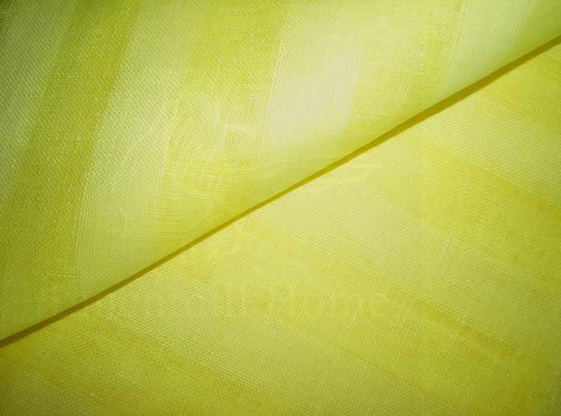 260 см. Льняной тюль Жёлтый