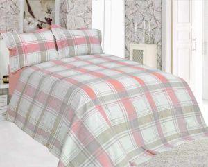 Льняное постельное белье Евро Классика Pink