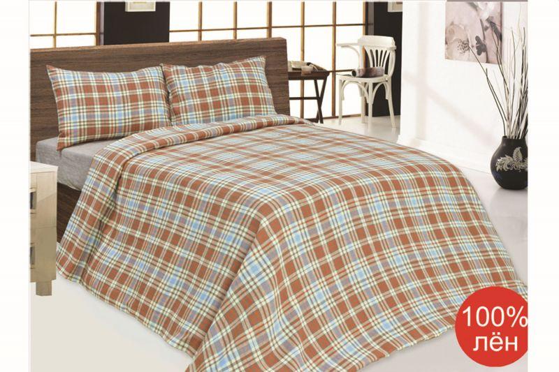 Льняное постельное белье Евро Классика