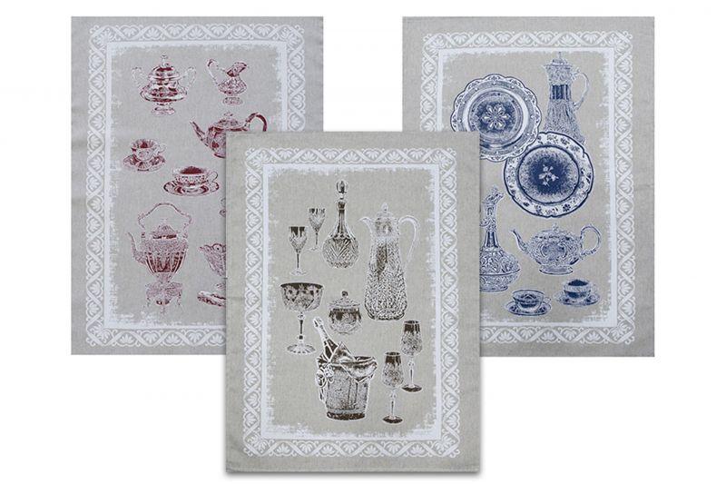 Набор кухонных полотенец Посуда 3 шт