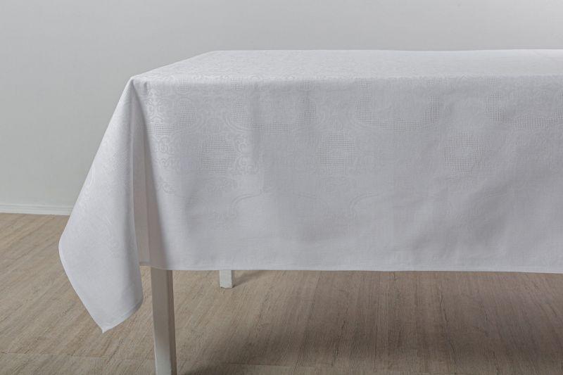 150х200 Белая прямоугольная скатерть Марго