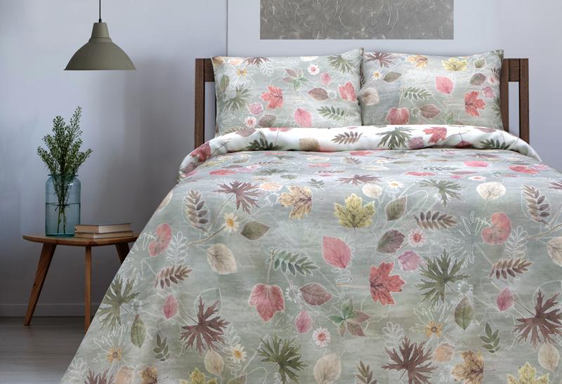 1.5 спальный комплект льняного белья Осенний сад