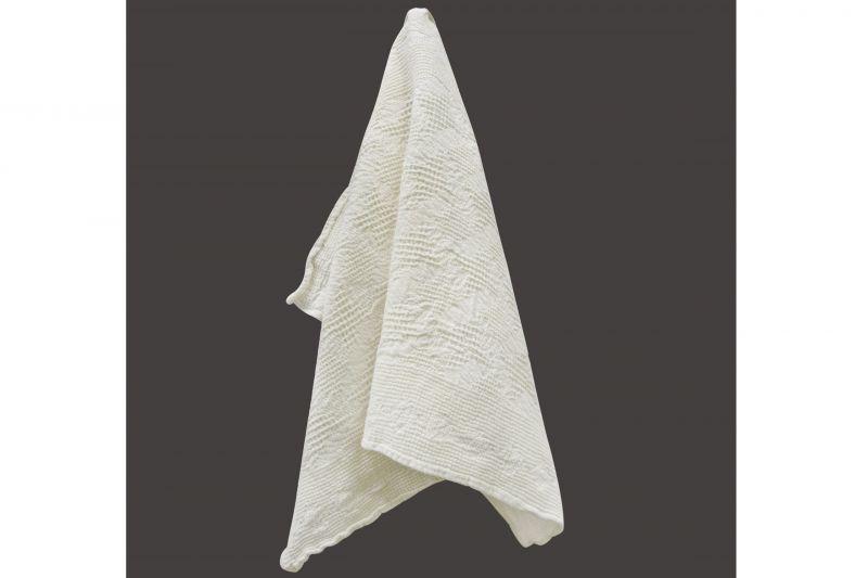 50х70 Белое вафельное полотенце для рук Абстракция