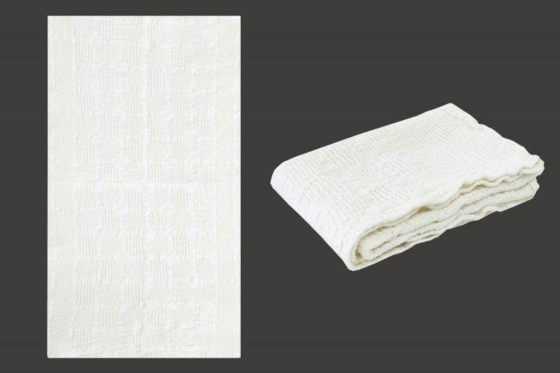 50х70 Белое вафельное полотенце для рук Блики