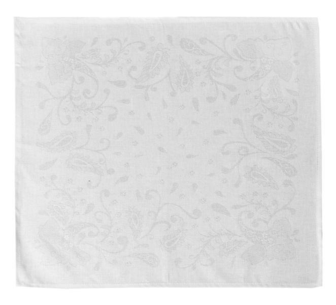48х48 Столовая белая льняная салфетка Катюша