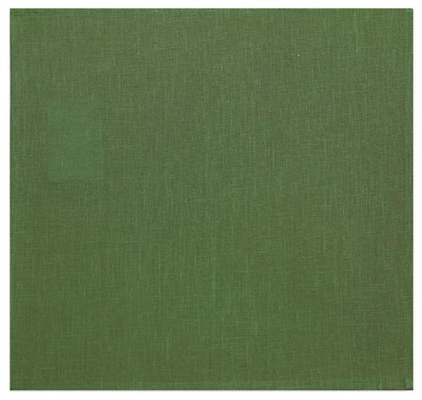 45х45 Салфетка льняная столовая темно-зеленая