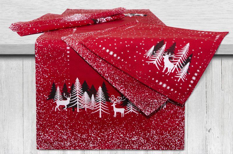 40х95 Комплект столовый к праздникам Снежность Red