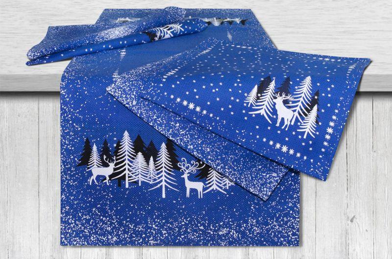 40х95 Комплект столовый праздничный Снежность Blue