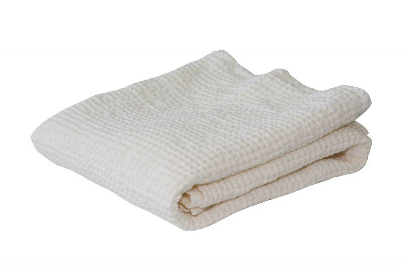 50х70 Белое вафельное полотенце