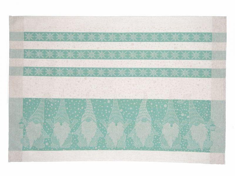 46х70 Новогоднее полотенце Гном green