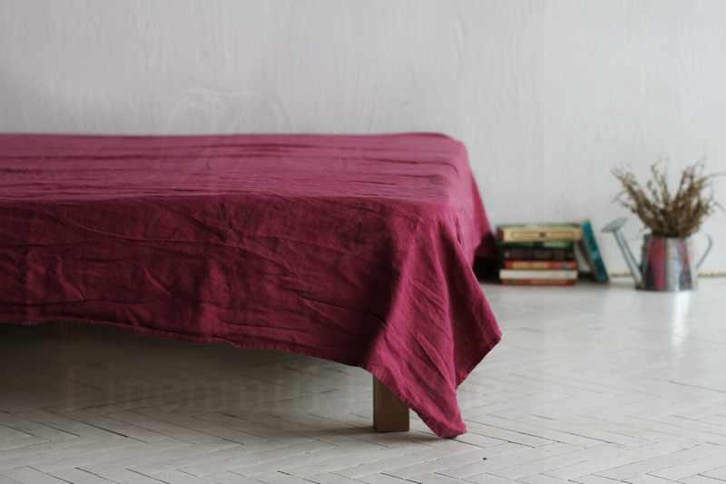 "230х240 Мягкая простынь ""Soft linen"" Бордо"