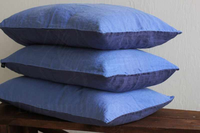 50х70 Двухцветная наволочка фиолетово-голубая