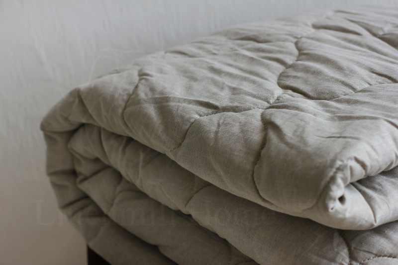 200х220 Льняное одеяло Евро