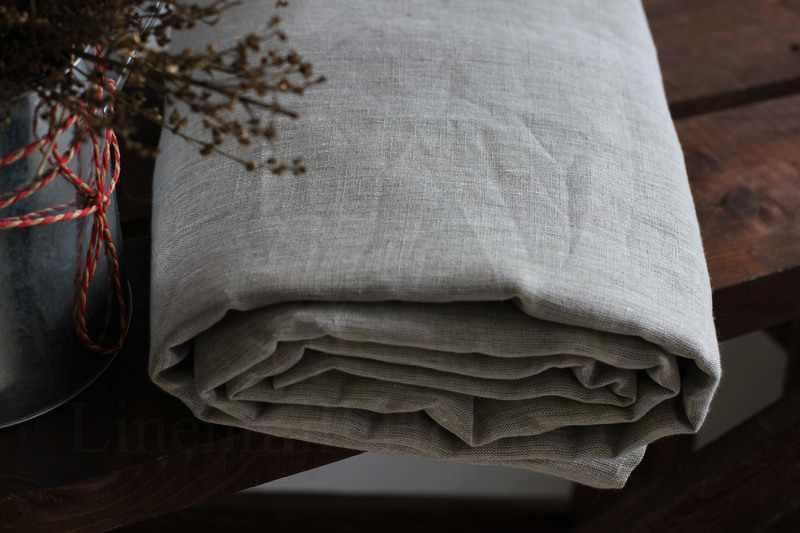 220х150 Полульняная простынь натурального цвета Natural Linen