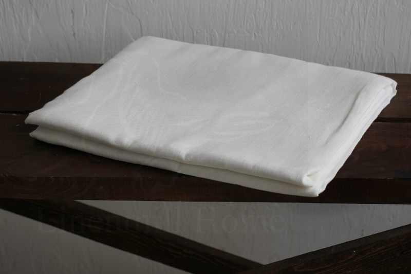 240х220 Белая льняная простынь Natural Linen