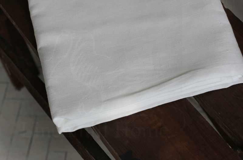 150х220 Белая умягченная простынь из льна и хлопка