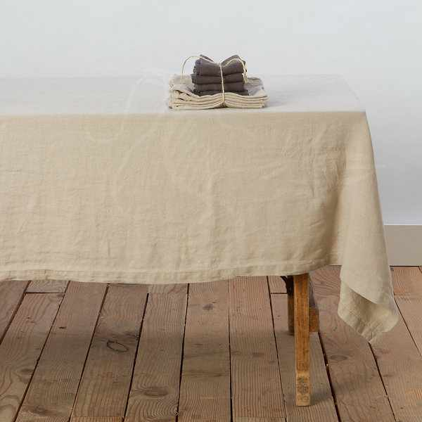 180х180 Скатерть бежевая Soft linen