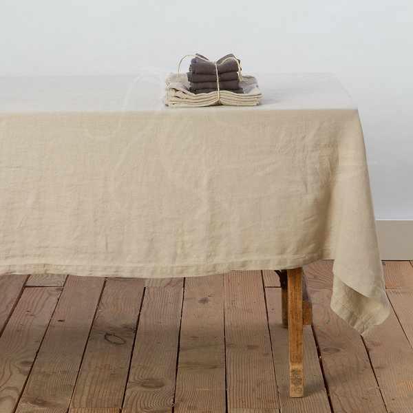 150х150 Скатерть бежевая Soft linen