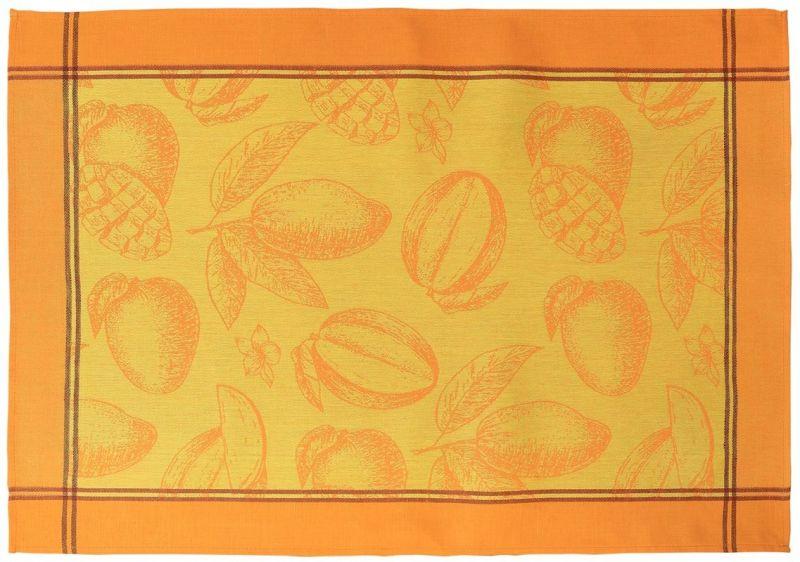 49х70 Оранжевое кухонное полотенце Манго