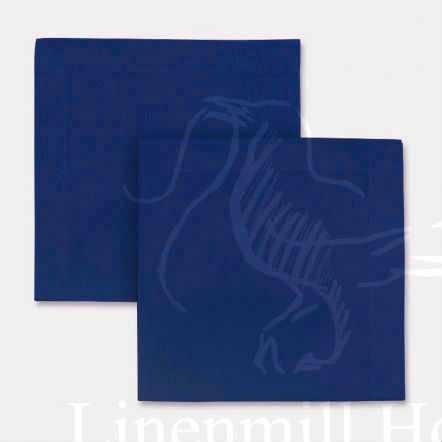 40х40 Столовая льняная салфетка Синяя