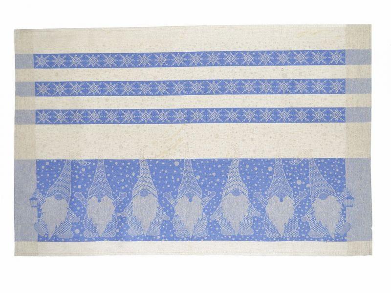 46х70 Новогоднее полотенце Гном blue