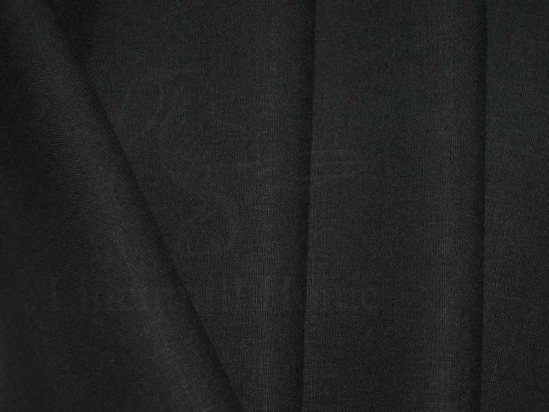Тонкий умягченный Полулён Черного цвета