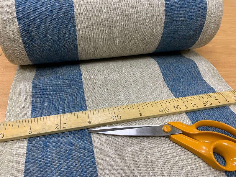 50 см. Ткань для дорожек в широкую синюю полоску