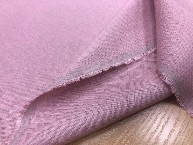 138 см. Лен с вискозой ткань для одежды Розовая