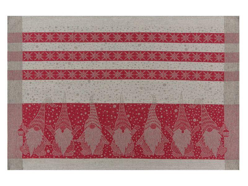 46х70 Новогоднее полотенце Гном red