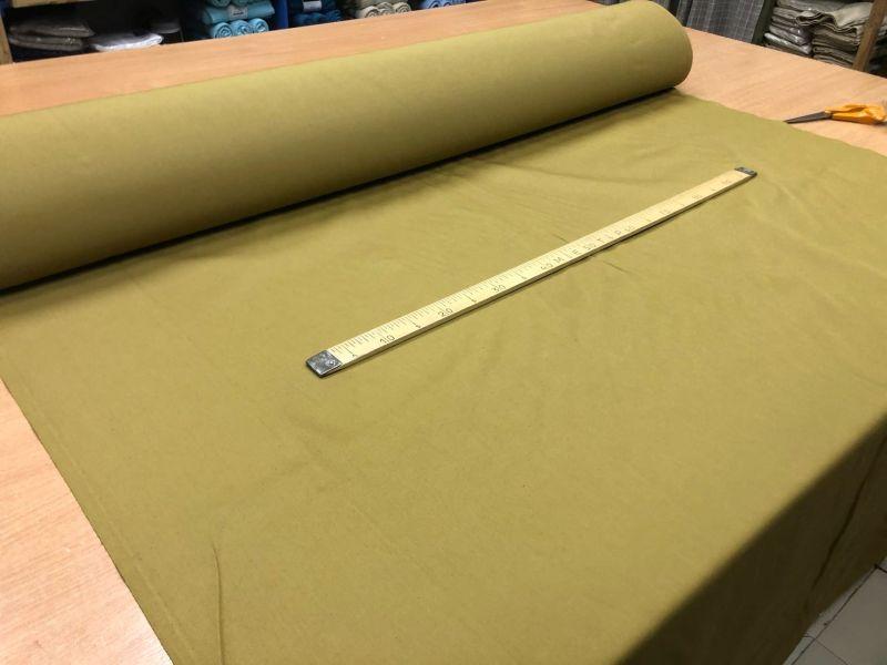 155 см. Ткань хлопковая саржа Хаки