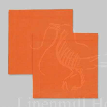 45х45 Столовая льняная салфетка Оранжевая
