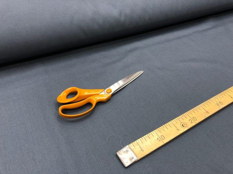 155 см. Ткань хлопковая саржа Темно-серая