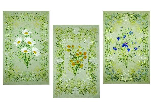 Набор кухонных полотенец Полевые цветы 3шт