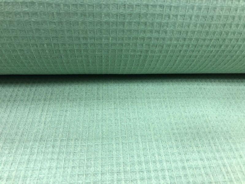 150 см. Ткань вафельное полотно льняное Ментоловое