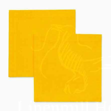 40х40 Сервировочная льняная салфетка желтая