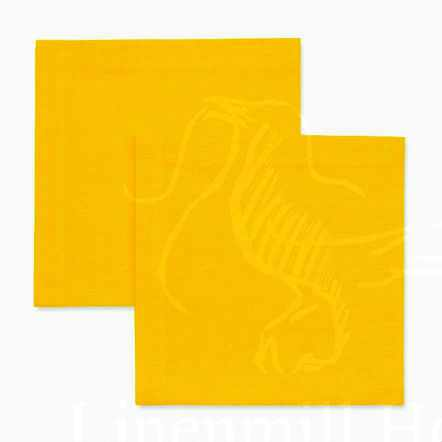 33х33 Льняная салфетка желтого цвета