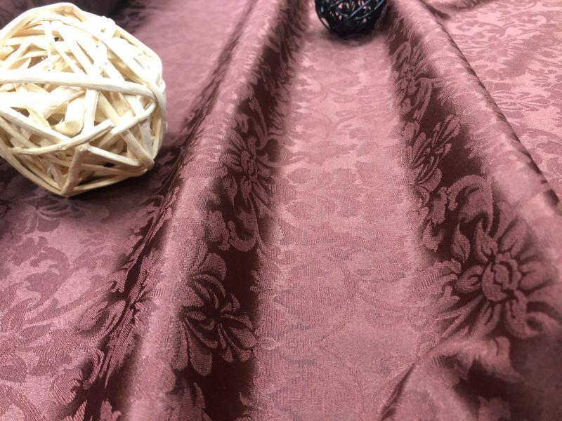 155 см. Ткань журавинка для скатерти Шоколад