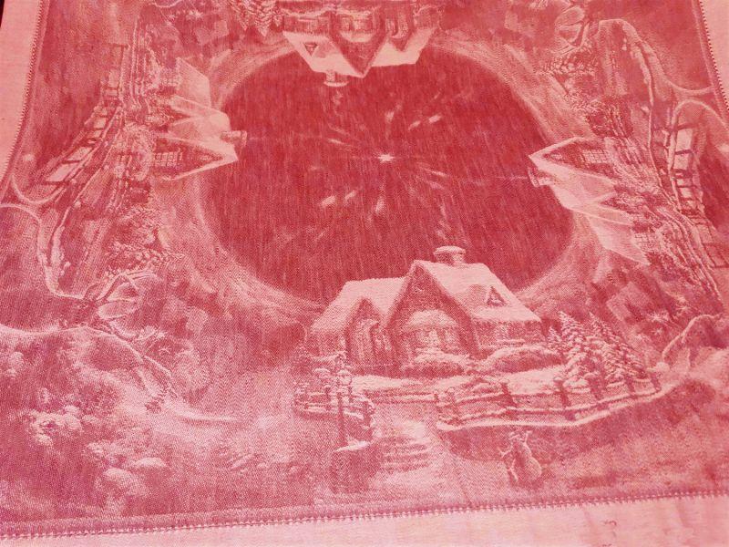 84х84 Скатерть с новогодним рисунком Рождество