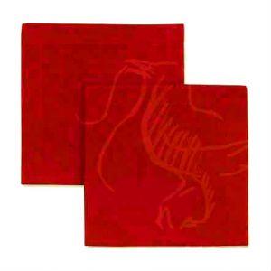 Салфетка столовая красная 45х45